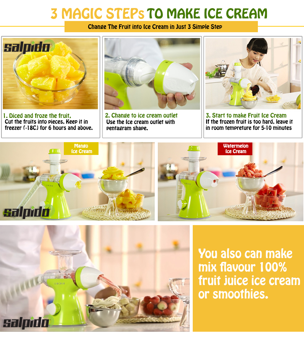 Giocoso Slow Juicer Review : SALPIDO GIOCOSO : Giocoso Manual Slow Juicer Bundle with Popsicle Maker